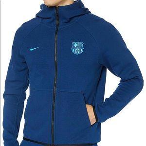 Nike FC Barcelona Tech Fleece Hoodie Mens XL